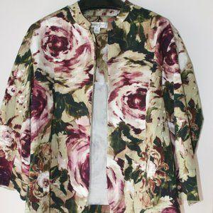 3/4 Sleeve Floral Jacket